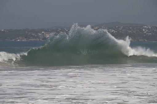 Waves, Breaking, Sea, Nature, Foam