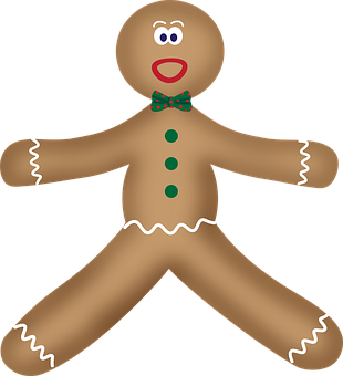 Gingerbread Man, Surprised, Christmas, Xmas, Decoration