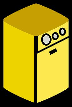Dryer, Appliance, Yellow, Domestic, Machine, Laundry