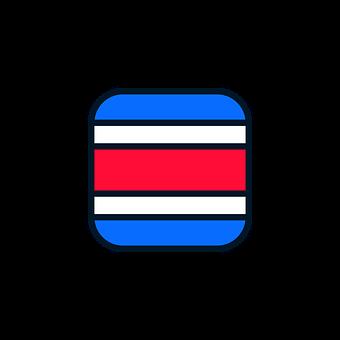 Costa Rica, Costa Rica Icon, Costa Rica Flag