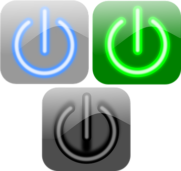 Turn On, Turn Off, Power, Buttons, Energy, Disable