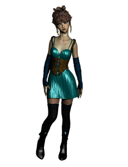 Elf, Maiden, Fantasy, Green, Hair, Cute, Fairy, Girl