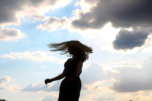 Girl, Dance, Sun, Clouds, Nature, Woman, Ballet, Female