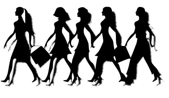 Women, Ladies, Females, Girls, Walking, Black