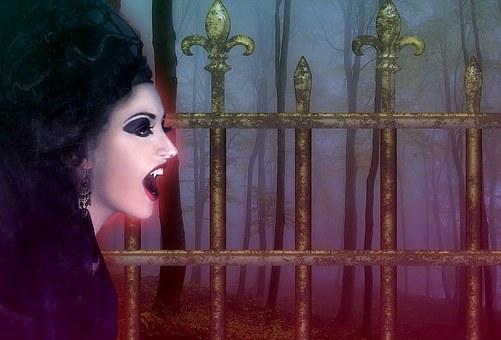 Vampire, Background, Night, Fog, Gothic, Creepy