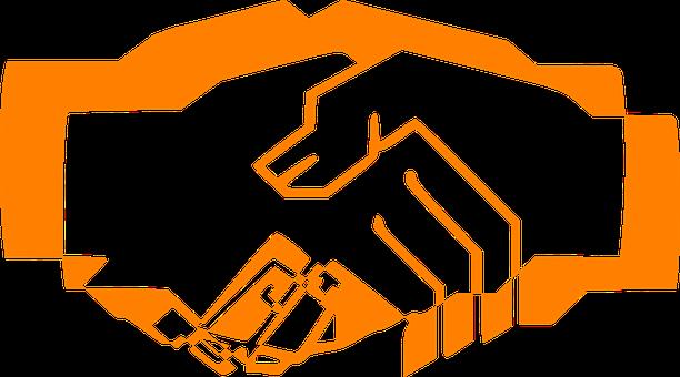 Handshake, Orange, Hand Shake, Trust, Greeting