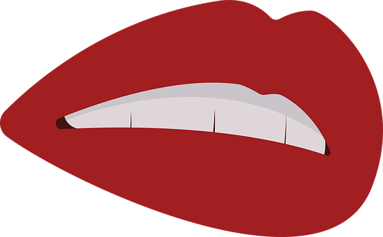 Girl, Lips, Teeth, Mouth, Lipstick, Dental, Makeup