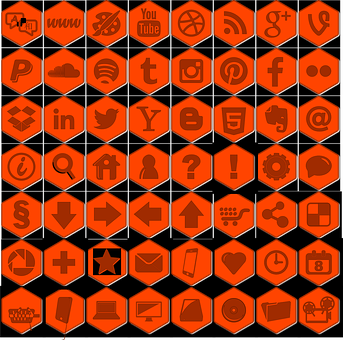 Icons, Web, Icon Library, Social Networks, Orange