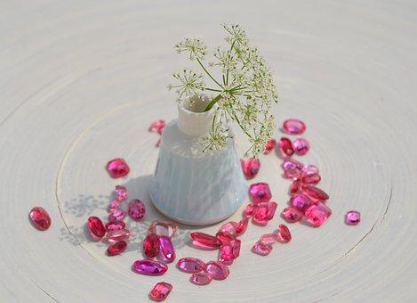 Jewellery, Glass, Glass Jewellery, Pink, Stones