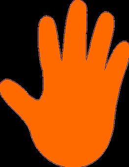 Hand, Stop, Support, Left, Hot, Orange, Grip, Clean