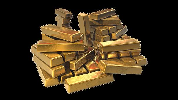Gold, Wealth, Ingots, Treasure, Bullion, Precious, Rich