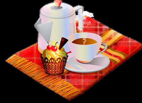 Autumn Hot Coffee, Autumn Cupcake