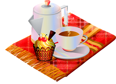 Autumn Hot Coffee, Autumn Cupcake, Coffee And Cake