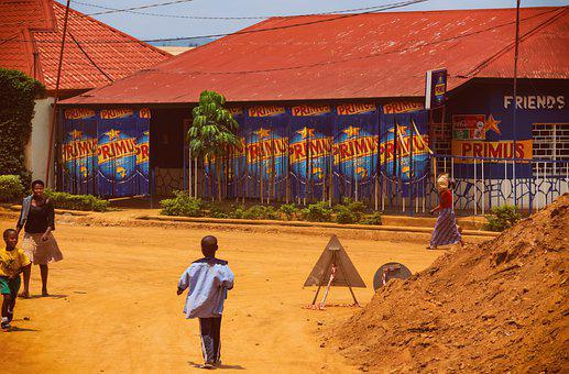 Kigali, Rwanda, Africa, Road, Bar, Building, Africans