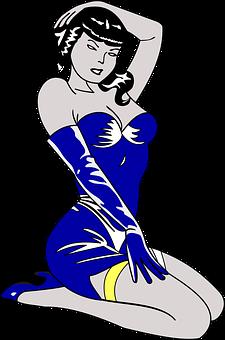 Woman, Hot, Stripper, Ecdysiast, Blue, Dress, Girl
