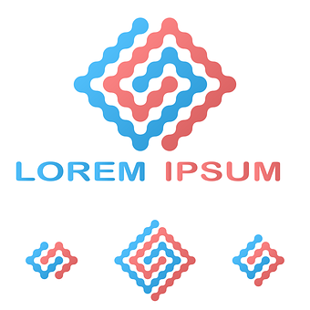 Logo, Loop, Research, Red, Blue, Company, Information