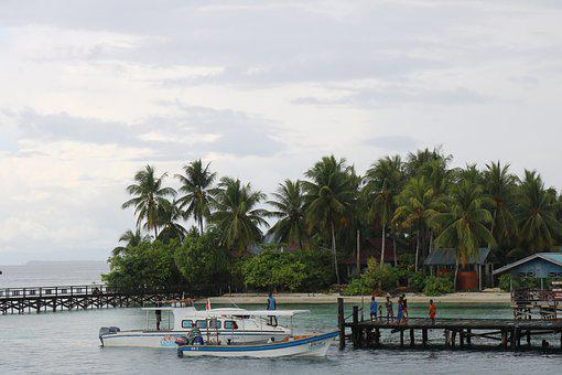 Boat, Coconut, Papuan, Raja Ampat, Indonesian, Cotage