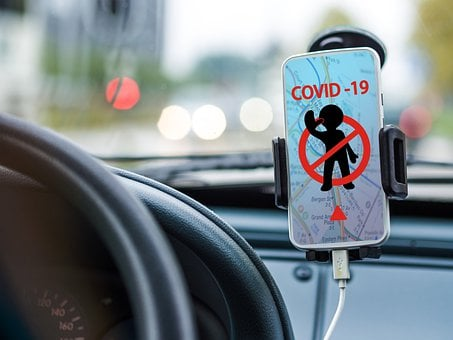 Coronavirus, Navigation, Auto, Drive, Road, Gps