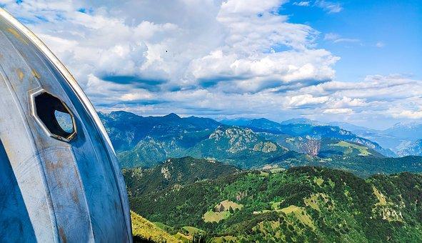 Landscape, Mountains, Sky, Houses, Rocks, Lombardy