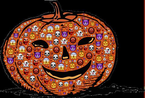 Pumpkin, Jack-o-lantern, Halloween, Emoji, Scary