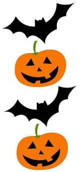 Bat, Pumpkin, Pumpkins, Face, Halloween
