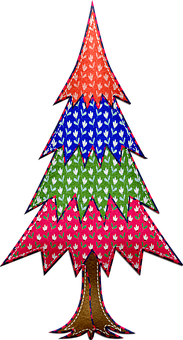 Christmas Tree, Felted Tree, Patterns, Christmas