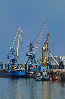 Cranes, Ship, Dock, Industry, Container, Cargo