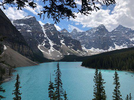 Canada, Lake, Alberta, Water, Forest, Mountains