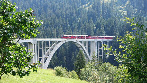 Railway Bridge, Arosa, Graubünden, Mountain Railway