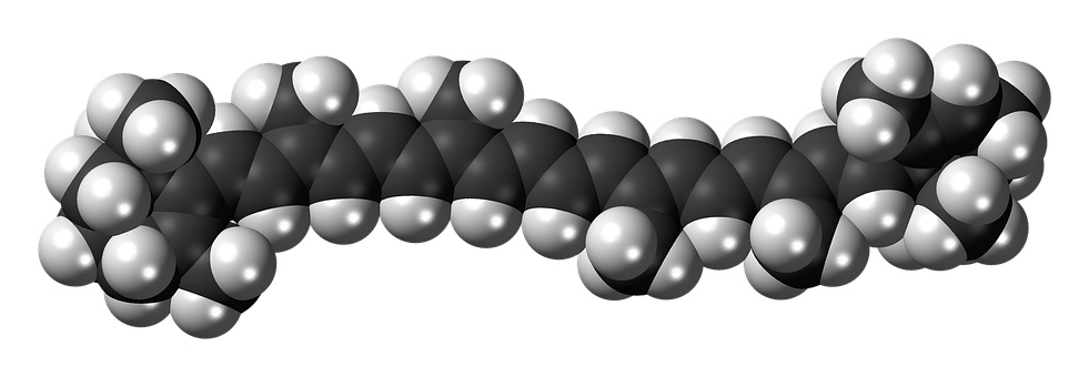 Alpha Carotene, Dye, Molecule, Structure, Model