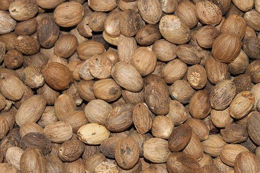Nutmeg, Spice, Cook, Kitchen, Nut, Nutrition
