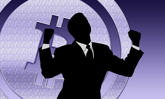Bitcoin, Success, Business, Blockchain, Businessman