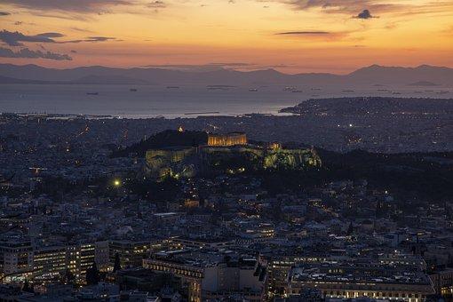 Athens, Sunset, Travel, Greece, Port, Landmark