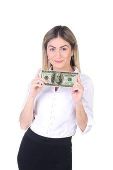 Woman, 100, Us Dollars, 100 Dollars, The Rich, Hundred