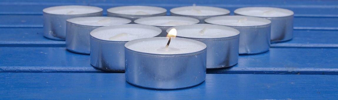 Candles, Tea Lights, Fire, Flame, Advent, Christmas