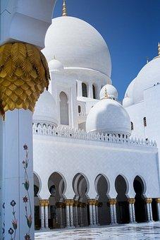 Mosque, Abu Dhabi, Architecture, Muslim, Islam, Arabic