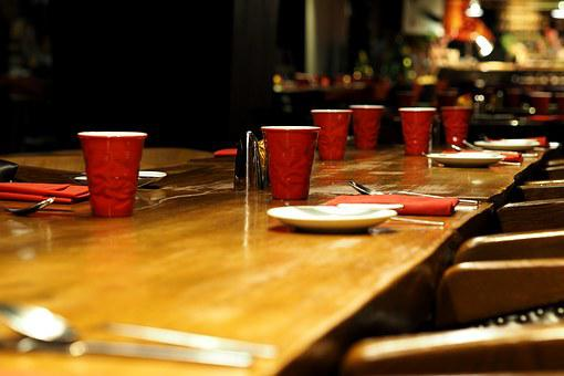 Banquet, Dining Table, Glass, Eating, Bowling
