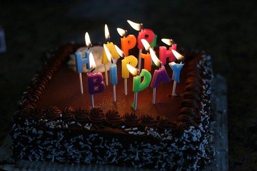 Happy Birthday, Birthday Cake, Cake, Black Happy