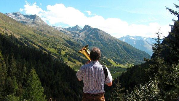 Mountains, Nature, Landscape, Brass Band