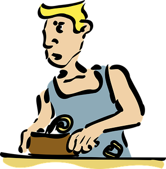 Carpenter, Cabinetmaker, Woodwork, Planing, Planer, Man
