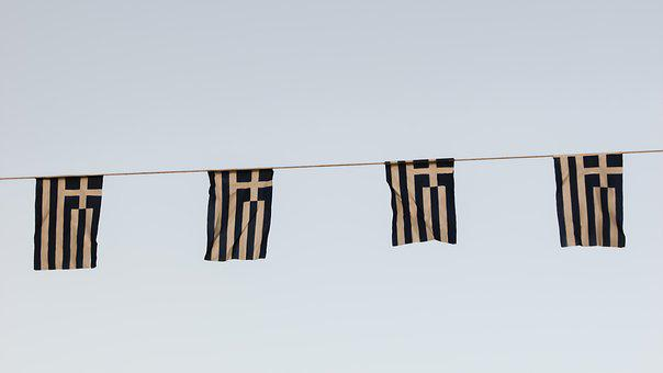 Bunting, Flags, Greek, Celebration, Country, Ceremony