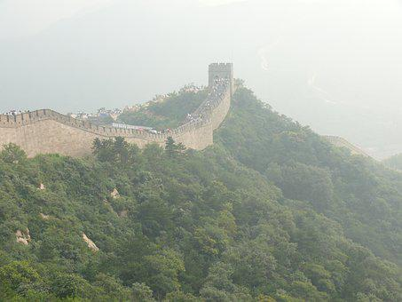 Great, Wall, China, Fog, Landscape