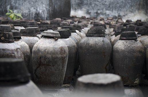 Old, Wine Tank, Wine, Chinese Wine, Tank, Ancient