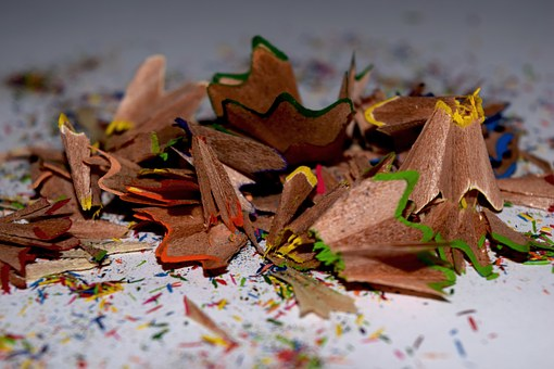 Crayons, Debris, Color, Sharpening, Waste, Trash