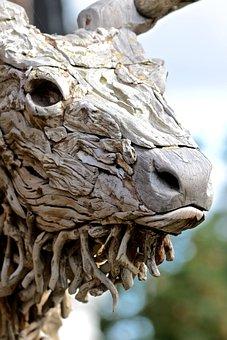 Wood Art, Deer, Decoration, Design, Artistic, Wood