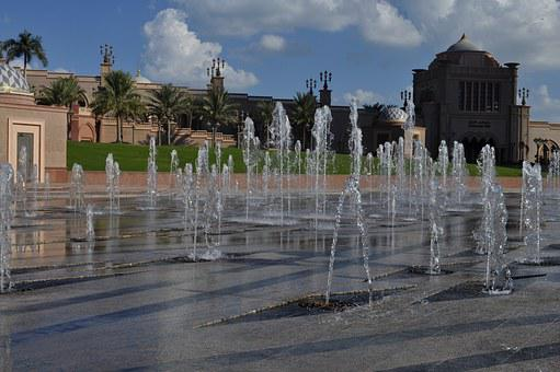 Abu Dhabi, Emirates Palace Hotel, Fountain