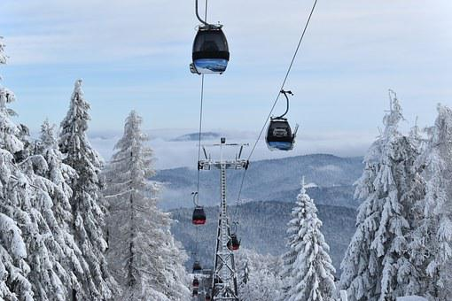 Gondola, Sycamore Krynicka, Winter In The Mountains