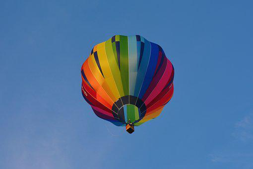 Balloon, Hot Air Balloon, Blue, Sky, Air, Colorful, Hot