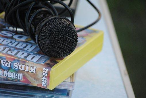 Microphone, Karaoke, Child, Childhood, Melody, Music