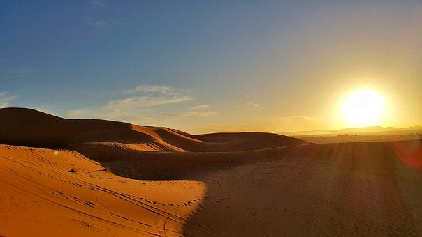 Sunset, Desert, Stunning, Sahara, Morocco, Sand Dune